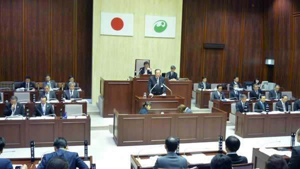 丸山市長の施政方針演説が行われた西東京市議会第1回定例会。