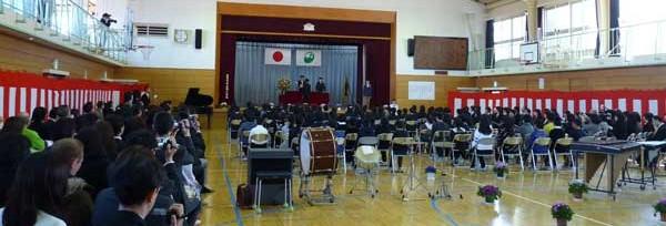 泉小学校の最後の卒業式