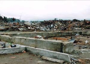 津波で家屋が流された