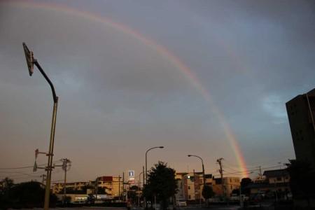 西東京に虹