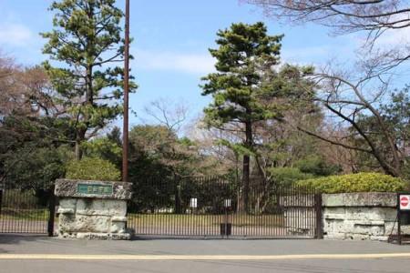 正門からみどりのキャンパスが広がる自由学園(東久留米市学園町)