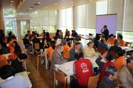 熊本地震の当日、避難所運営ゲームが実施された(多摩六都科学館)撮影©ひばりタイムス