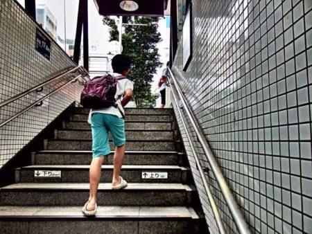 息子が塾に通っている渋谷駅