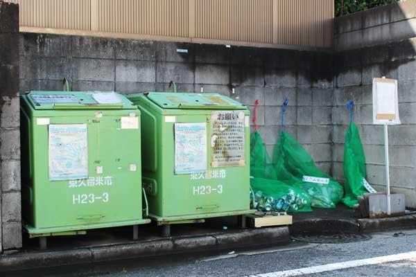 10月から撤去が始まるダストボックス(東久留米市学園町)