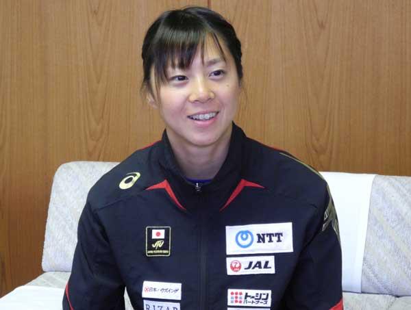 「リオ五輪で目標8位以内入賞を目指して戦います」と語る佐藤優香選手