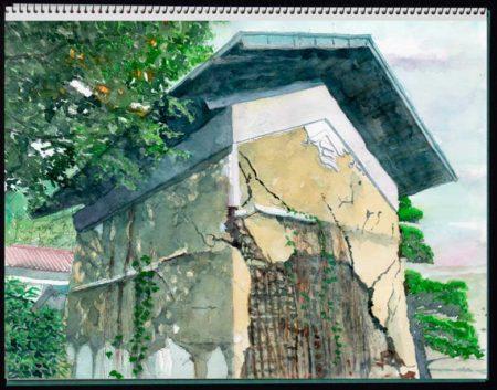 水彩画・土蔵造りの蔵©大貫伸樹 (禁無断転載 クリックで拡大)
