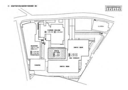 田無庁舎市民広場仮設庁舎配置図(案)