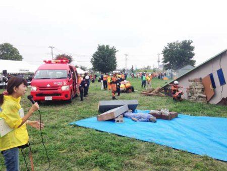 昨年9月6日の倒壊建物救出救助訓練のレポート(筆者提供)