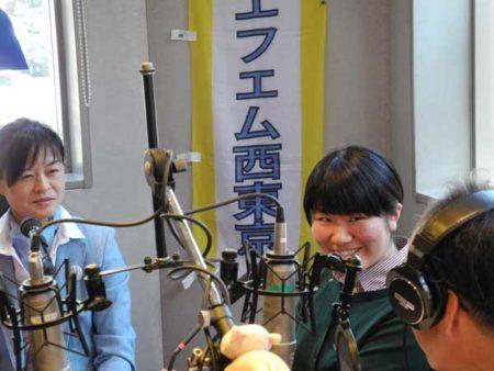 左から、中村知子先生、遠藤なつきさん(FM西東京スタジオ)