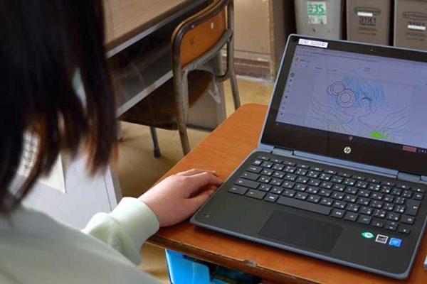 パソコンで絵を描く