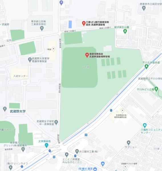 武蔵野運動場_地図